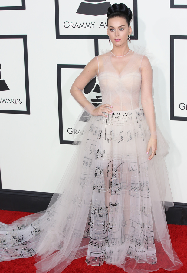 Katy Perry at the 56th Annual Grammy Awards in Los Angeles, America, 26 January 2014