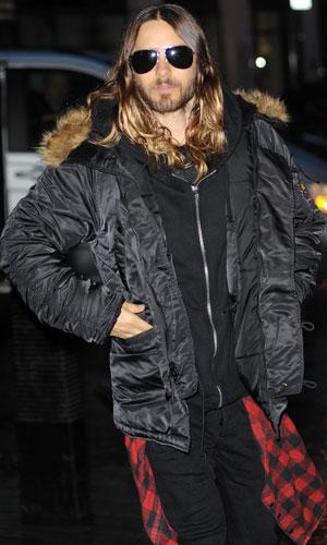 Jared Leto outside BBC Radio 1 studios in London, 29 January 2014