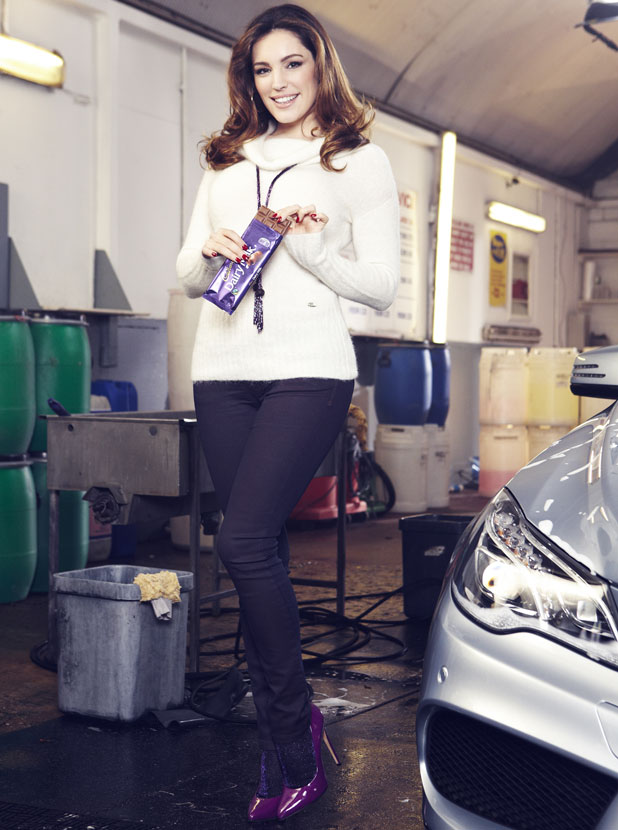 Kelly Brook in a new advert for Cadbury Dairy Milk, January 2014