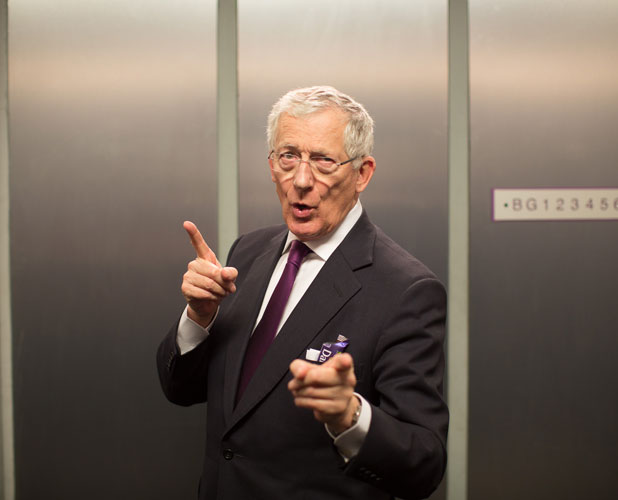 Nick Hewer in a new advert for Cadbury Dairy Milk, January 2014