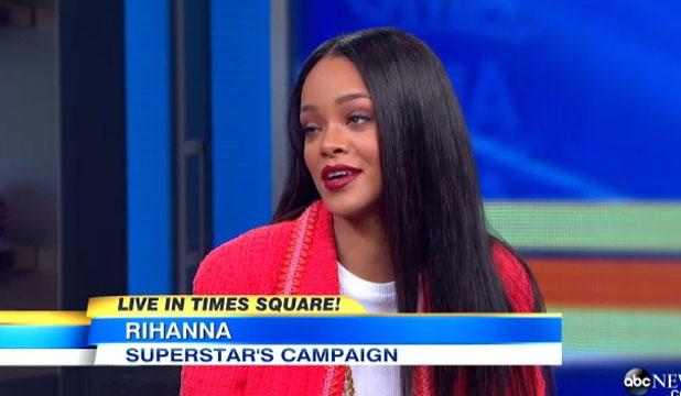 Rihanna, 'Good Morning America' TV show, New York, America - 29 Jan 2014