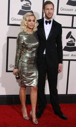 Rita Ora and Calvin Harris at the Grammy Awards 2014, 26 January 2014