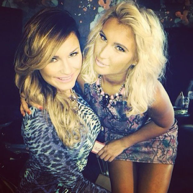 Billie Faiers shares a photo of herself and sister Samantha to mark Sam's entry to the CBB house, January 2014