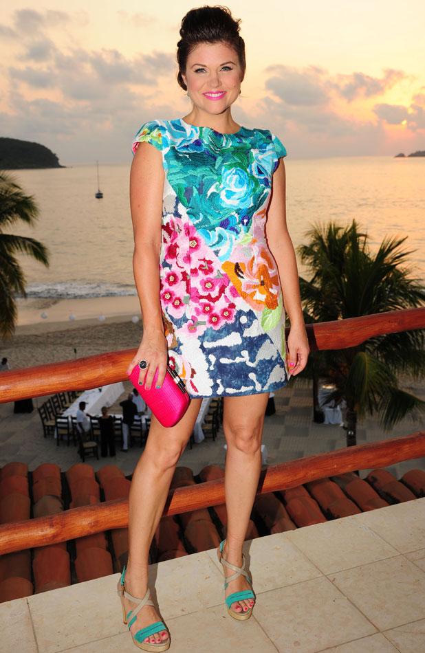 Tiffani Thiessen celebrates her 40th birthday at The Viceroy Zihuatanejo, Mexico - 25 Jan 2014
