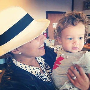 Tamera Mowry and her son Aden - 2014