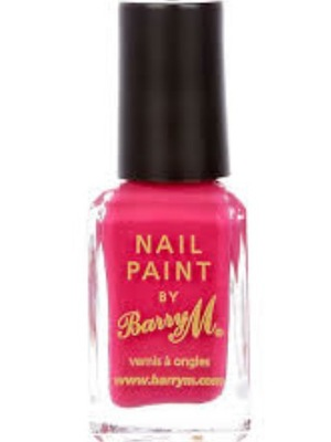 Barry M nail polish in Shocking Pink