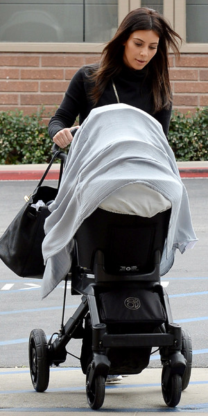 Kim Kardashian out and about with daughter North, Los Angeles - 08 Feb 2014
