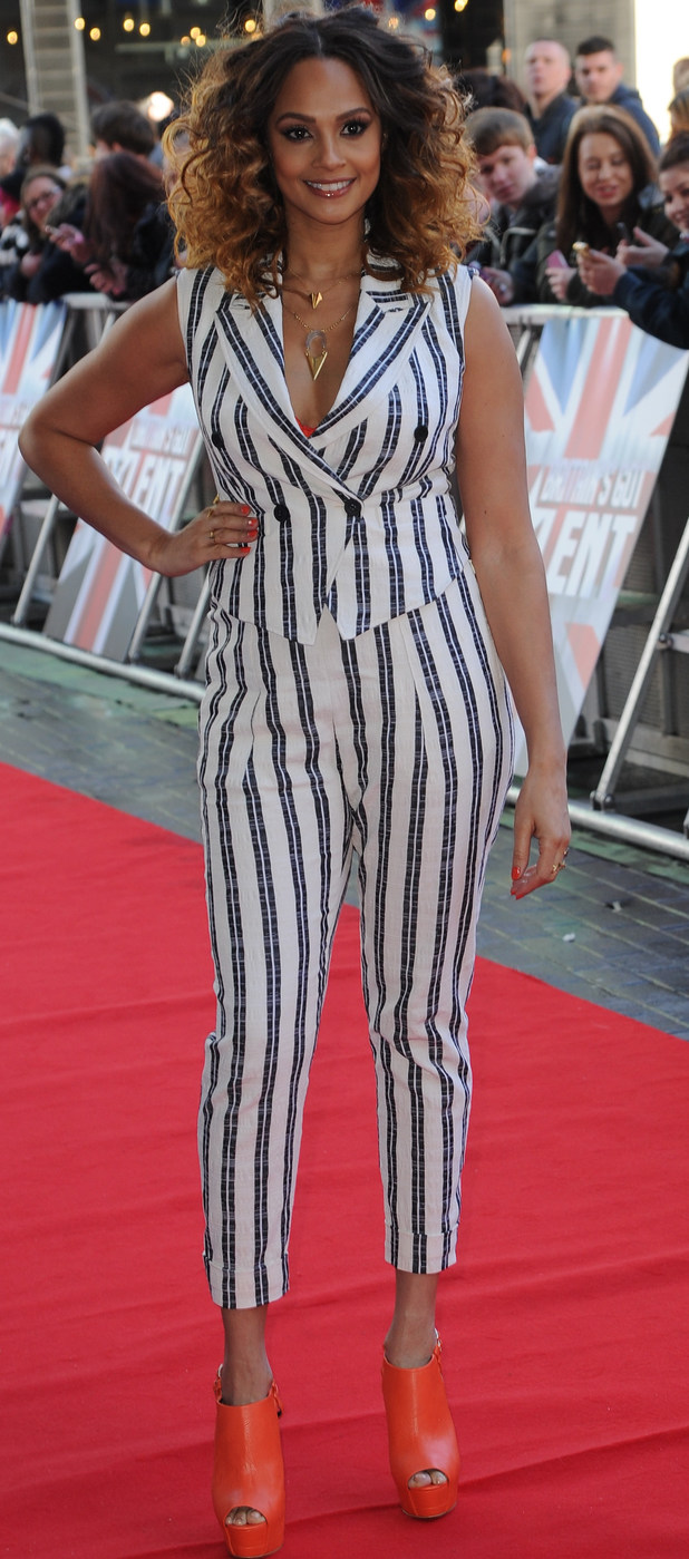 Alesha Dixon at The Lowry Theatre, Manchester, for Britain's Got Talent auditions