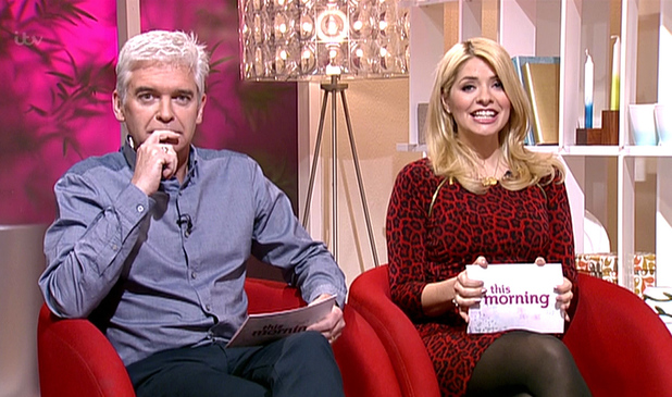 Phillip Schofield and Holly WIlloughby - This Morning, shown on ITV1 HD 2 February 2014.