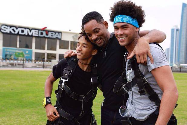 Will Smith takes sons Jaden and Trey skydiving - 3.2.2014