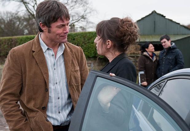 Emmerdale, James flirts with Charlotte, Tue 4 Feb