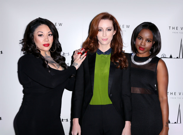 The View From The Shard 1st Birthday Party, London, Britain - 04 Feb 2014 Mutya Buena, Siobhan Donaghy and Keisha Buchanan of MKS