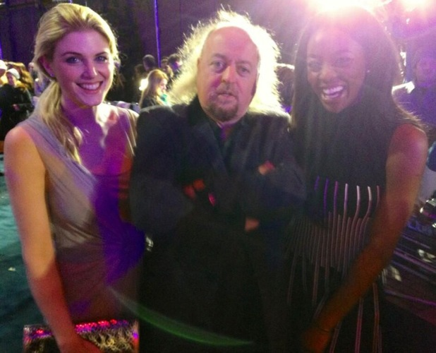Ashley James and Bill Bailey at the RoboCop film premiere at BFI IMAX in London - 5 February 2014
