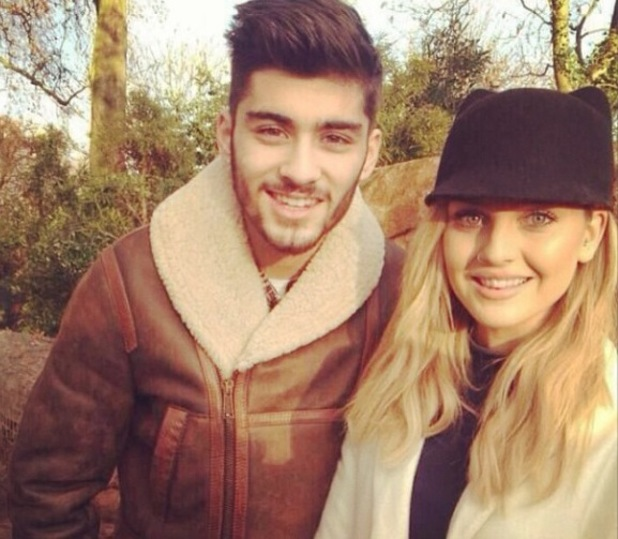 Zayn Malik and fiancée Perrie Edwards at the zoo. (30 December 2013).