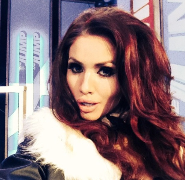 Amy Childs poses for  a selfie on last night of The Jump - 3 Feb 2014