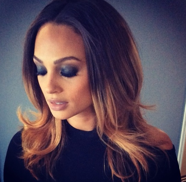Alesha Dixon shows off her 'smokey eyes' before heading off to film Britain's Got Talent, Birmingham auditions, 3 February 2014