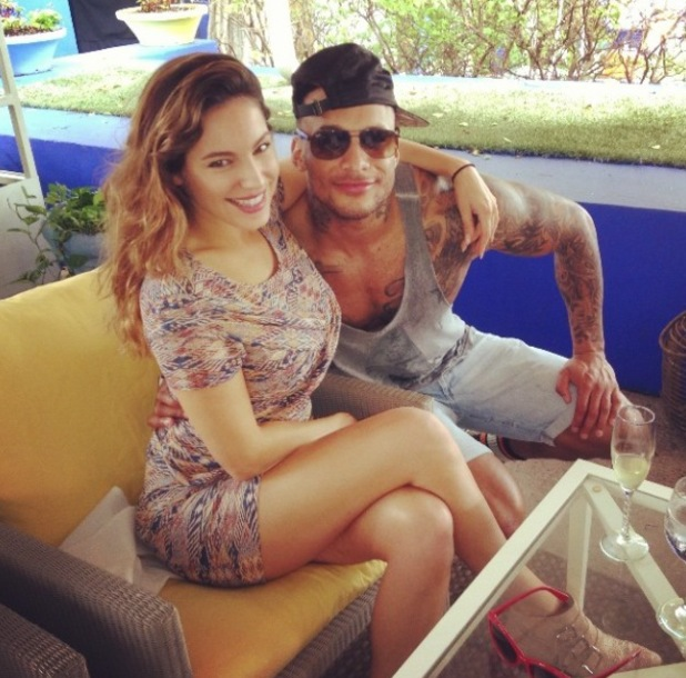 Kelly Brook with Fiancé David Mcintosh