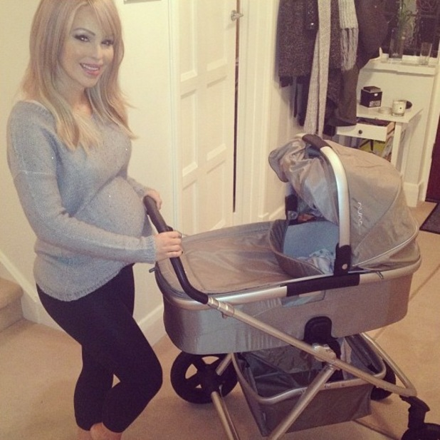 Katie Piper shows off her bump and new pram - 3 Feb 2014