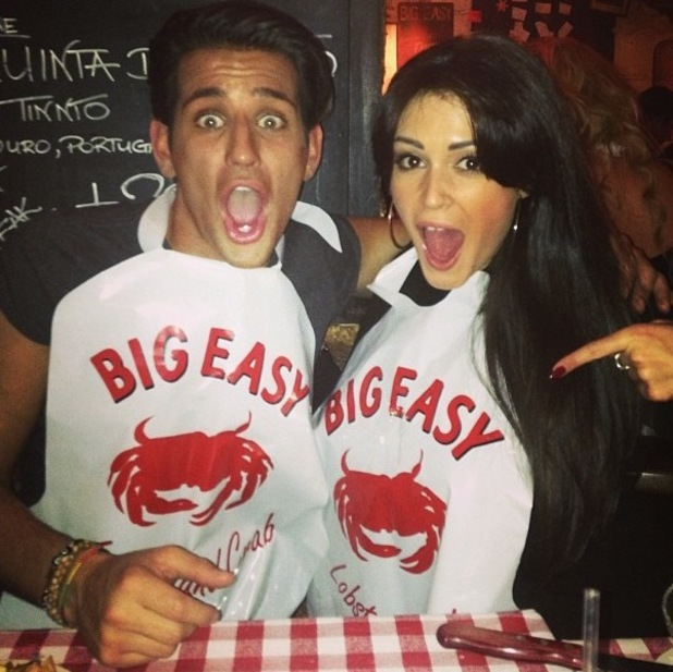 Celebrity Big Brother stars Ollie Locke and Casey Batchelor party together in London. (5 February).