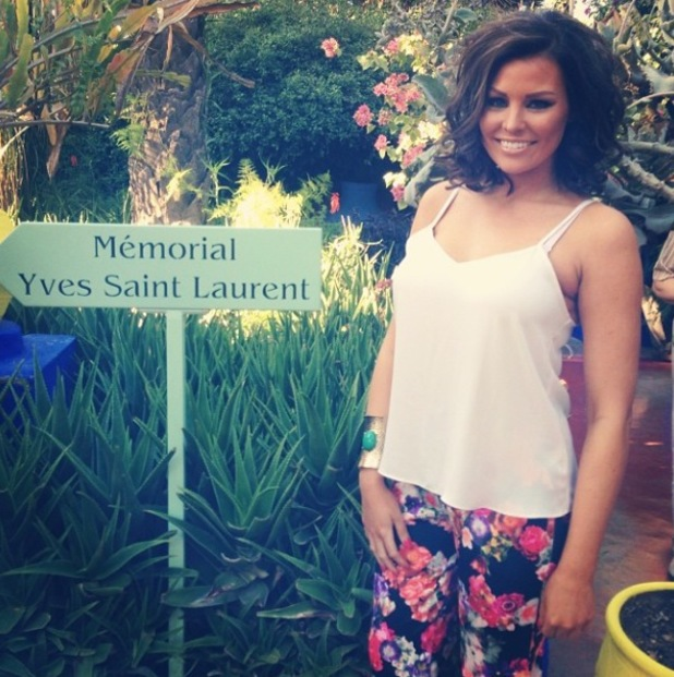 Jess Wright shows off her new short hair while out in Morocco - Feb 2014