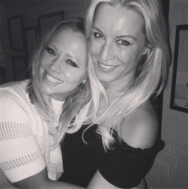 Kimberley Walsh and Denise Van Outen backstage at Some Girl I Used To Know - 6 Feb 2014