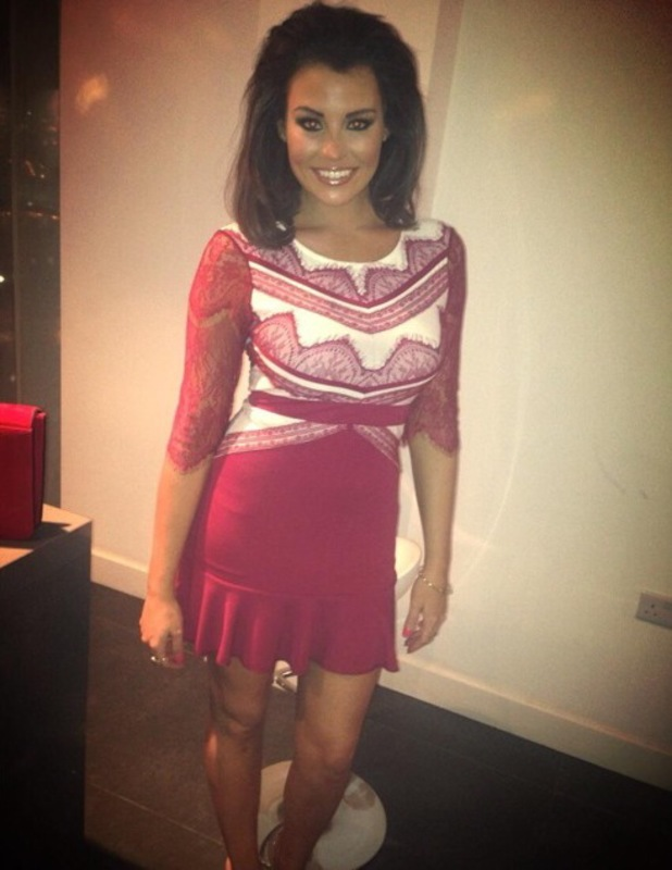 TOWIE's Jessica Wright poses for a Twitter picture during a night out - 1 February 2014
