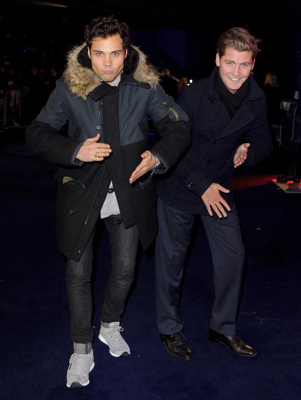 Stevie Johnson and Andy Jordan - 'Robocop' World Film Premiere, London, Britain - 05 Feb 2014