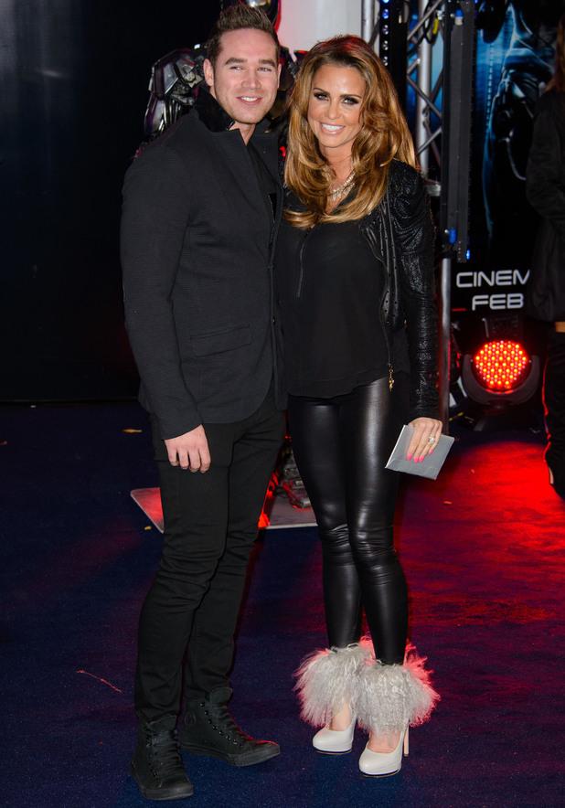 Katie Price, Kieran Hayler - The world premiere of 'Robocop' at the BFI IMAX - Arrivals. 5 Feb 2014