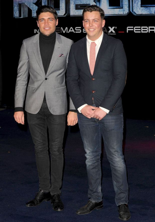 Tom Pearce and James Bennewith aka Diags at the a'Robocop' World Film Premiere, London, Britain - 05 Feb 2014