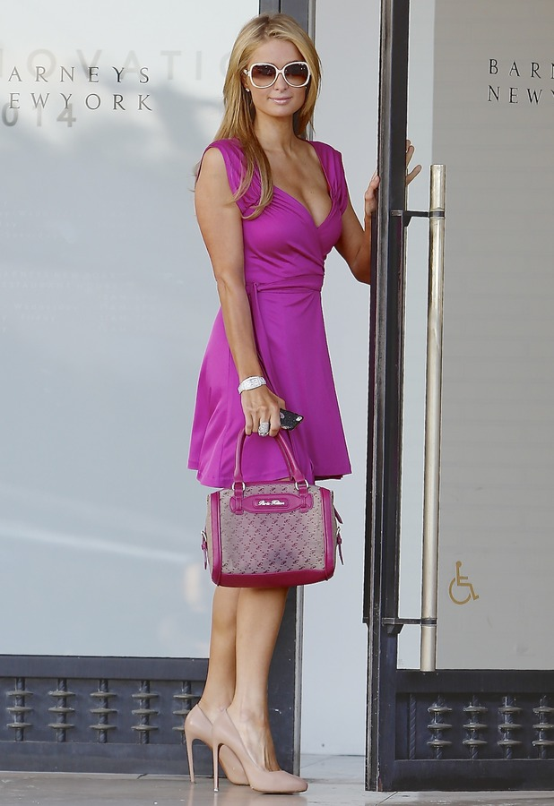 Paris Hilton arrives at Barneys of New York in Los Angeles - 5 February 2014