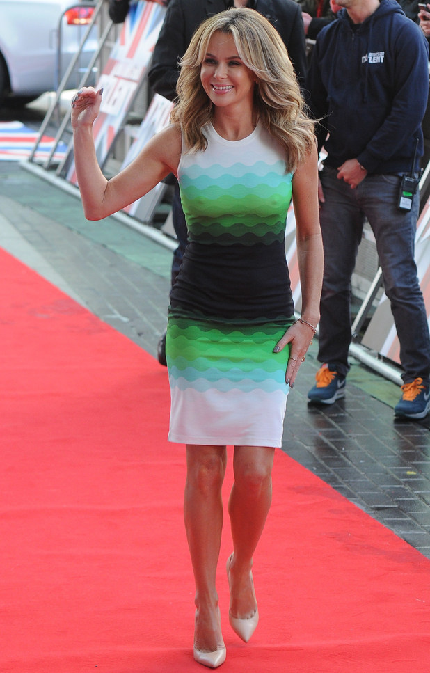 Amanda Holden at The Lowry Theatre, Manchester, for Britain's Got Talent auditions