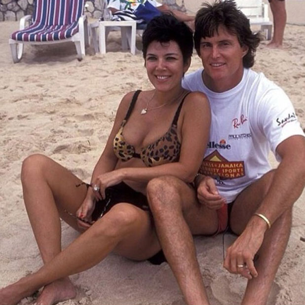 Kris Jenner and Bruce Jenner in a throwback picture posted to Instagram by Kourtney Kardashian, 3 February 2014