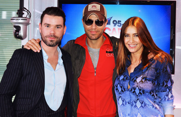 Enrique Iglesias visits Dave Berry & Lisa Snowdon at Capital Breakfast, 5 February 2014