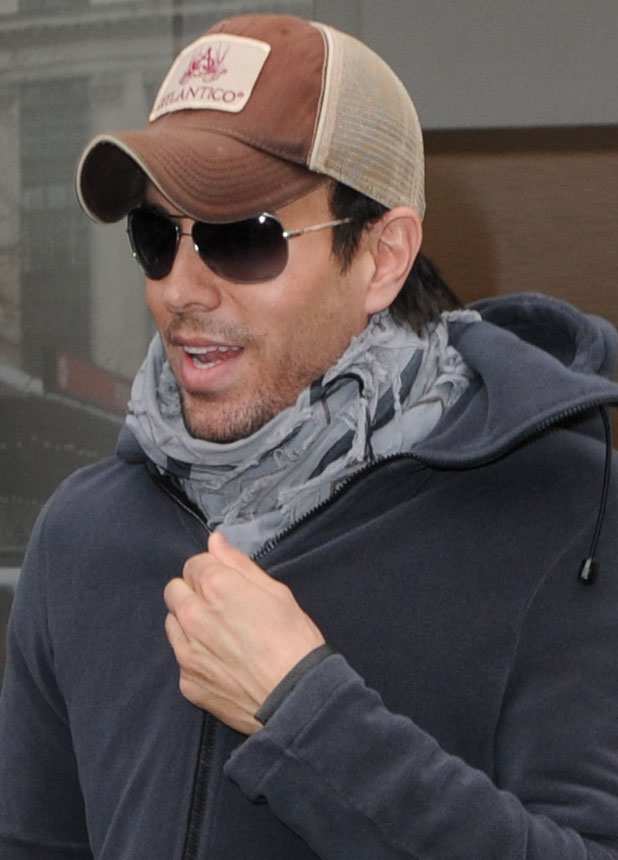 Enrique Iglesias outside Capital FM studios, London, 5 February 2014