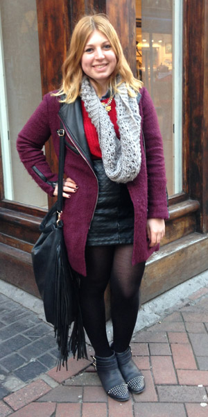 Reveal reader Hayley in a street style picture on 5 February 2014