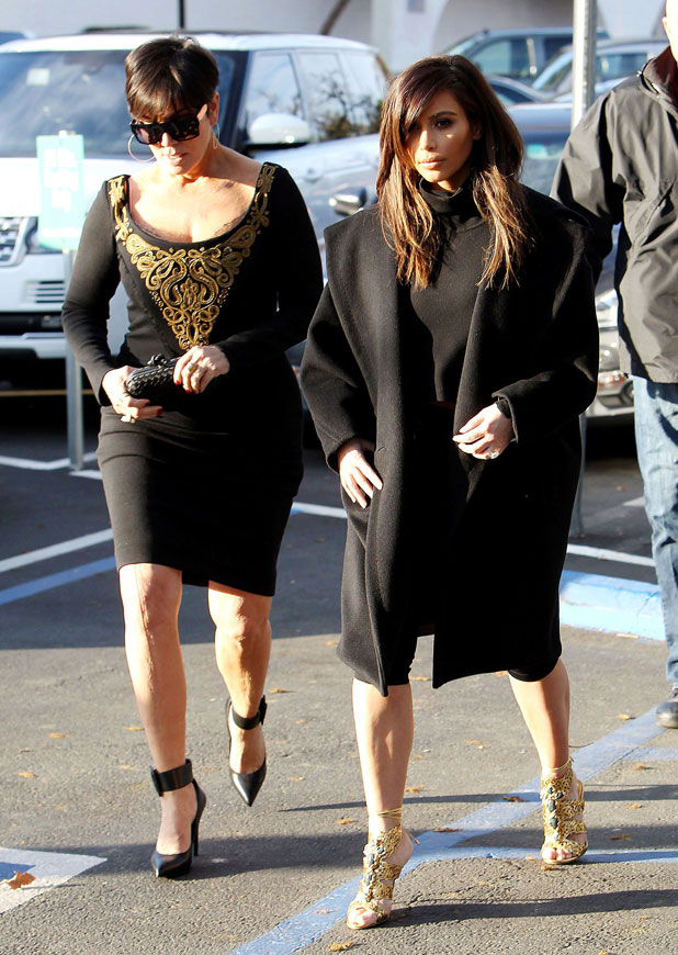 Kim Kardashian and Kris Jenner at Fins Seafood Grill in Westlake Village, Los Angeles, America - 04 Feb 2014
