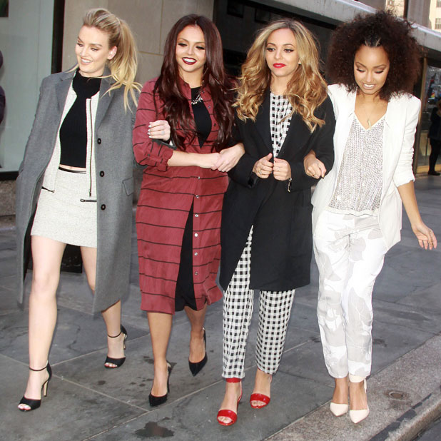 Little Mix appear on NBC's 'Access Hollywood' in Manhattan, 4 February 2014