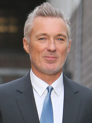 Martin Kemp shows off his grey hair at ITV studios, 3 February 2014