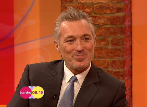 Martin Kemp shows off his grey hair on Lorraine, 3 February 2014