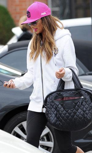 Nicole Scherzinger leaving a gym in LA, 31 January 2014