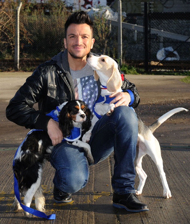Peter Andre visits Battersea Dogs & Cats Home, London, 4 February 2014