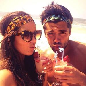 Made In Chelsea's Binky Felstead and boyfriend Alex Mytton on holiday in Goa, India.