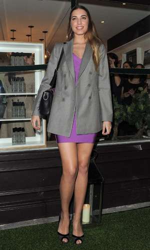 Amber Le Bon arrives at Caudalie party