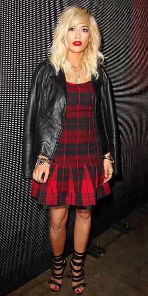 Rita Ora - DKNY show, Autumn/Winter 2014 Mercedes-Benz Fashion Week, New York, America - 9 February 2014