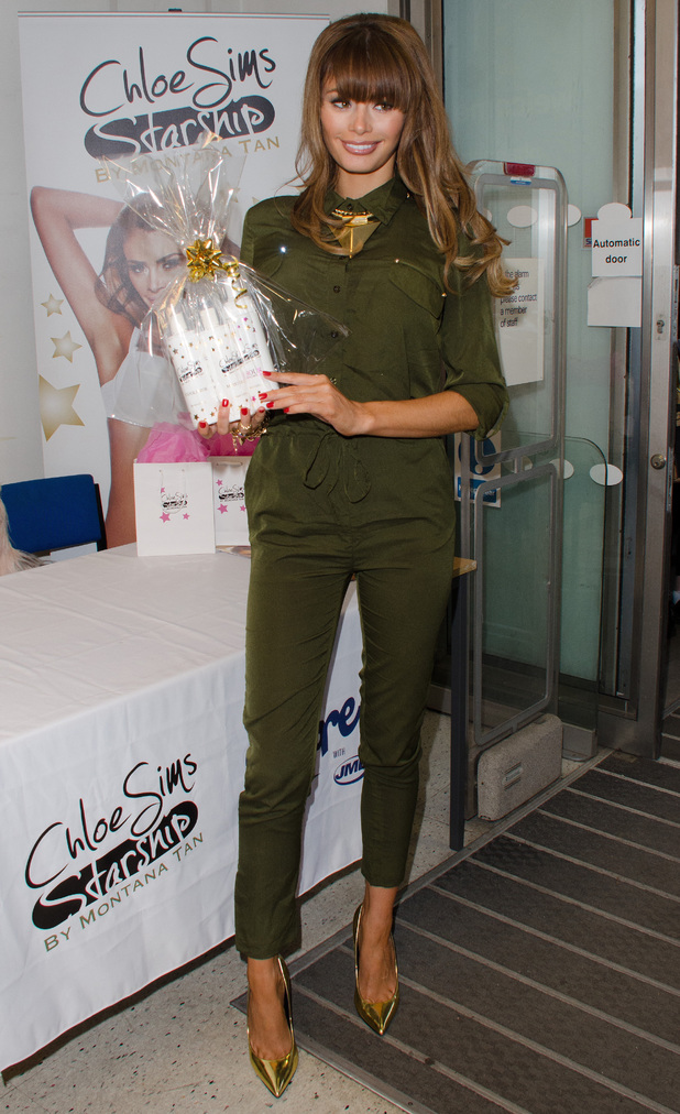 Chloe Sims launches her Chloe Sims Starship by Montana Tan range at Boots in Brentwood - 14 December 2013