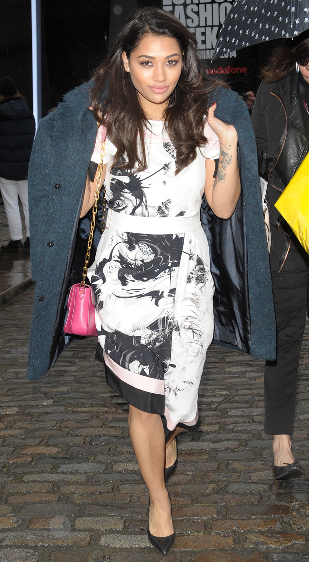 Vanessa White at Somerset House for London Fashion Week - 14 February 2014