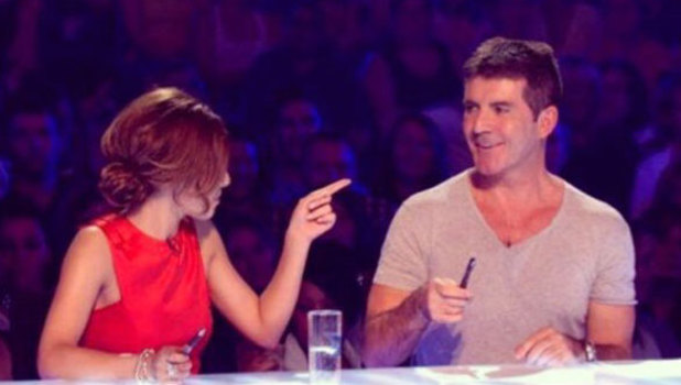 Cheryl Cole posts photo of Simon Cowell and herself on X Factor as Throwback Thursday choice, 13 February 2014