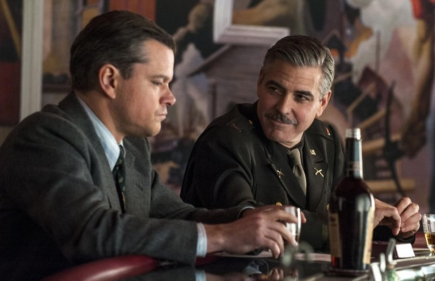 Still of Matt Damon and George Clooney from The Monuments Men