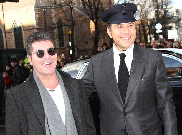 Simon Cowell and David Walliams at Britain's Got Talent auditions held at Hammersmith Apollo - Arrivals 02/11/2014