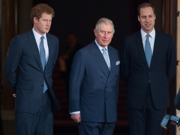 Prince William, Prince Harry, Prince Charles at London Conference on The Illegal Wildlife Trade held at Lancaster House - Arrivals.,13 Feb 2014.